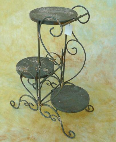 Blumenständer Blumenhocker Säule vintage Beistelltisch Metall Etagere 0947373-b