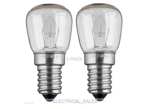 Oven Cooker Lamp 300°C Appliance Light Bulb Oven lamp E14-25W 2 Pack