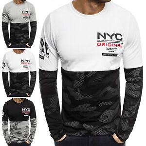 OZONEE Herren Pullover Longsleeve Sweatshirt Shirt Langarmshirt 2XL Mix