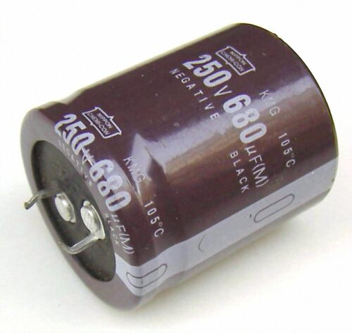 2pcs Radial Electrolytic Capacitor 250v 680uf 105C 159A