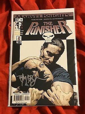THE PUNISHER #10~FRANK CASTLE HEAD LOCK COVER ART~SIGNED BY TIM BRADSTREET~NM
