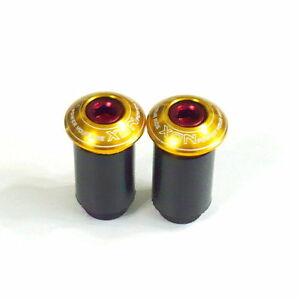 gobike88-XON-XSS-22-Handle-Bar-End-Caps-Plugs-for-ROAD-MTB-Gold-H18