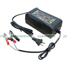 ECO Souer Genuine 12V 6A Smart Car Motorcycle Battery Charger LCD Display