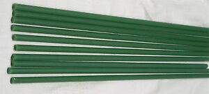 """colored boro rod coe 33 opaque Jade Green 7mm X approximatly14"""" 1 lb"""