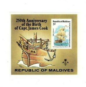 VINTAGE-CLASSICS-MALDIVES-SC-757-Capt-James-Cook-IMPERF-S-S-MNH