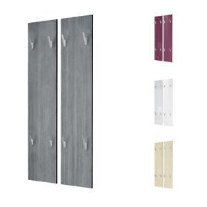garderobenpaneel wandgarderobe garderobe wandpaneel 120 hochglanz naturt ne ebay. Black Bedroom Furniture Sets. Home Design Ideas