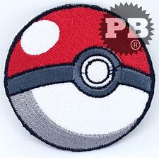 #2073 POKEMON POKEBALL Embroidered Iron-On Patch cartoon game logo badge