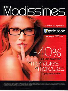 2012 Montures Modissimes Optic Publicité 018 2000 Sur Lunettes Advertising Détails ukXlOPZTwi