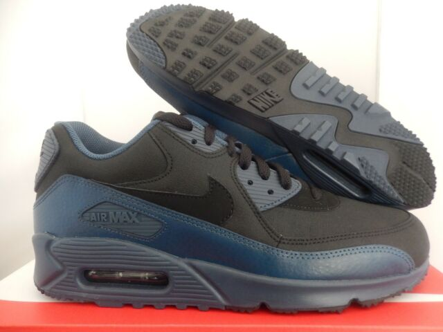 f7c6b135dbc4e NIKE AIR MAX 90 WINTER PRM PREMIUM SQUADRON BLUE-BLACK SZ 11.5 [683282-