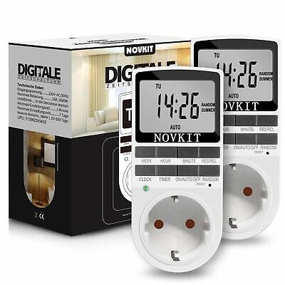 Brennenstuhl ra-Line Zeitschaltuhr DT digitale Timer-Steckdose Wochen-Zeitscha