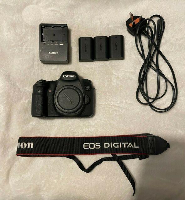 Canon EOS 6D 20.2MP Digital Camera Body Only + 3 genuine canon batteries -no box