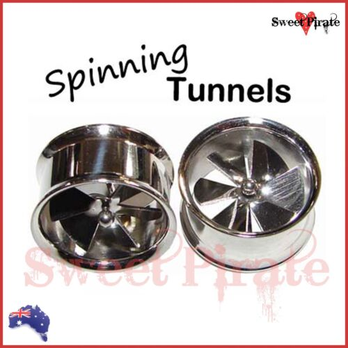 1 pc Surgical Steel Spinning Fan Flare Stretcher Tunnel Plug Expander  10-18mm