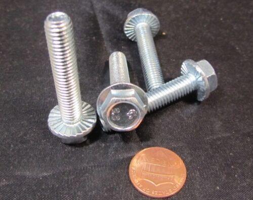 Class 8.8 Zinc Steel 50 Pc Flanged Serrated Bolt M8 x 1.25 x 40 mm Length FT