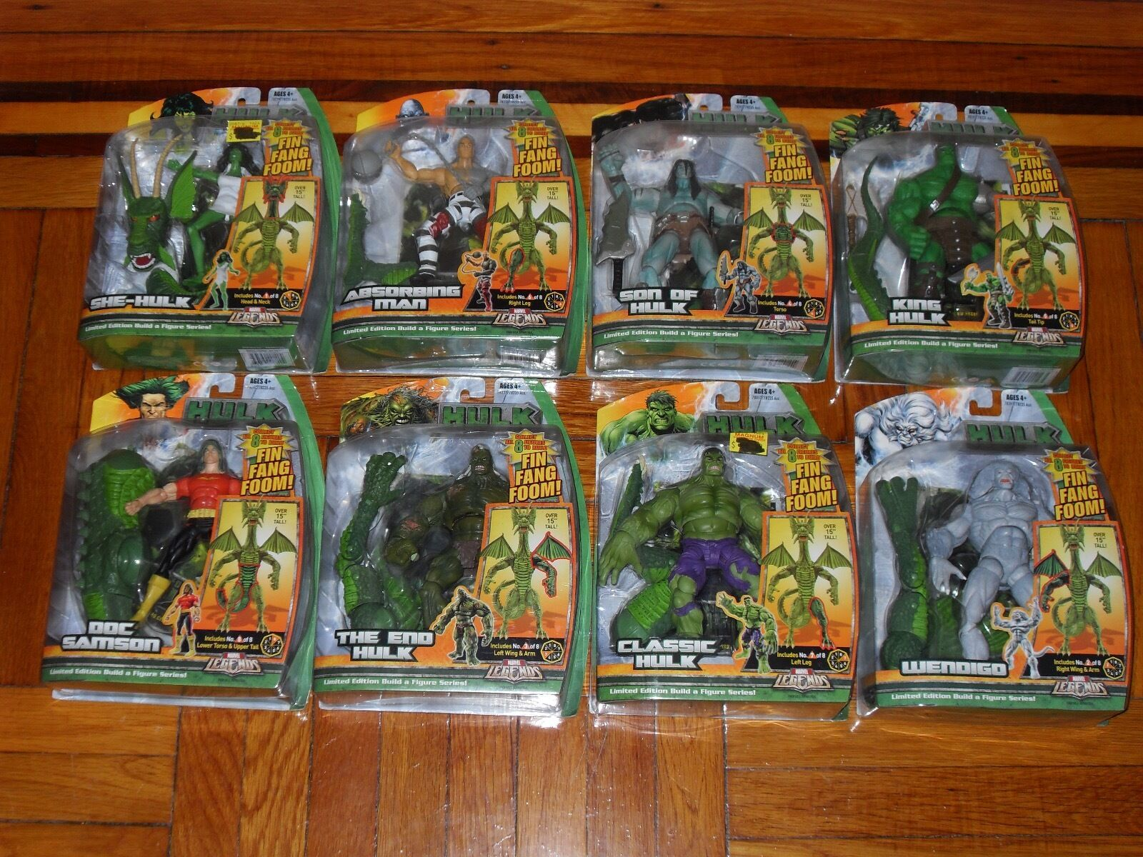 Marvel Legends Build A Figure Fin Fang Foom Collection
