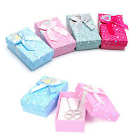5*8cm Jewelry Bowknot Necklace Ring Earring Box Display Organizer Storage Holder