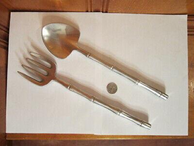 vintage brass knives /& forks flatware large vintage brass fish knives forks bamboo design Vintage brass large pair fish knives and forks