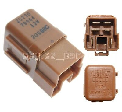6-Pin Brown Turn Signal Cooling Fan Relay 25230-79964 95-10 82-Genuine Nissan