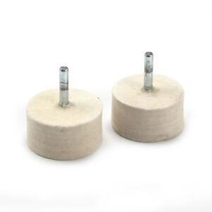 5X 3mm Shank Cylindrical Wool Felt Polishing Buffing Wheel Grinding Rotary Tool
