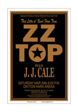 ZZ Top / JJ Cale 1975 Dayton Concert Poster