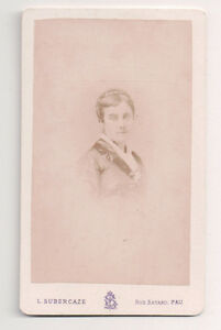 Vintage-CDV-French-Second-Empir-Beauty-L-Subercaze-Photo-Pau-France