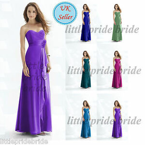 A-Line-Princess-Full-Length-Chiffon-Evening-Prom-Bridesmaid-Dress-size-6-22-JS18