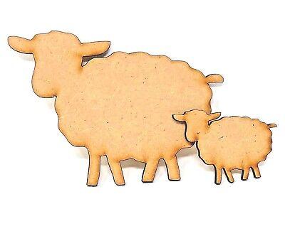 Oveja Esponjosa Mdf Forma de artesanía diseño de corte láser de madera Artesanía Formas Animales de ovejas