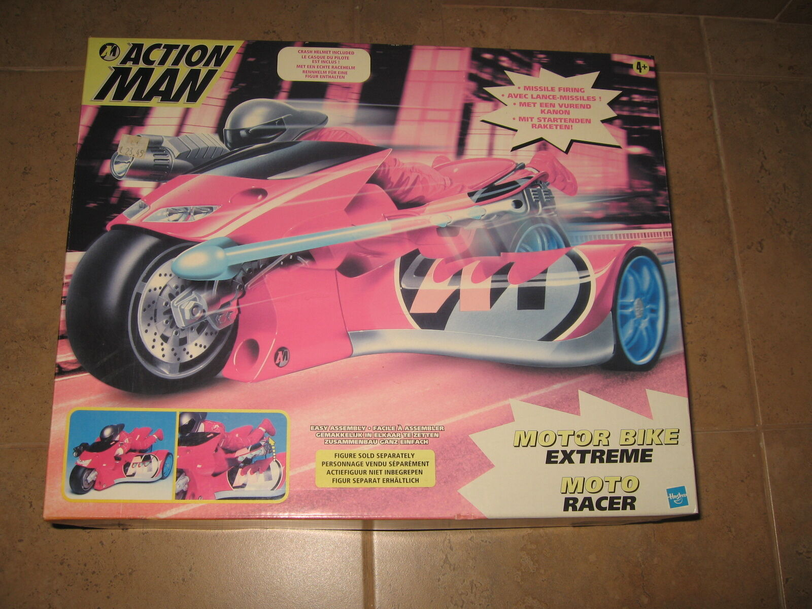 HASBRO ACTION MAN MOTOR BIKE EXTREME-MOTO RACER-VEHICLE 2000 EUROPEAN EUROPEAN EUROPEAN RARE NEW M edaaf8