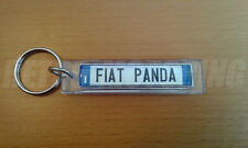 Fiat Panda Keyring - Italian Licence Plate Style Auto Keytag