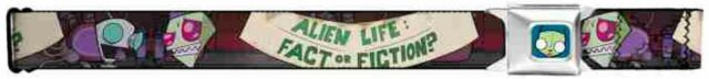 """Invader Zim Seatbelt Belt - Zim & GIR """"Alien Life: Fact or Fiction?"""" Convention"""