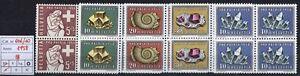 Svizzera-1958-Pro-Patria-MNH-n-606-610-Quartine