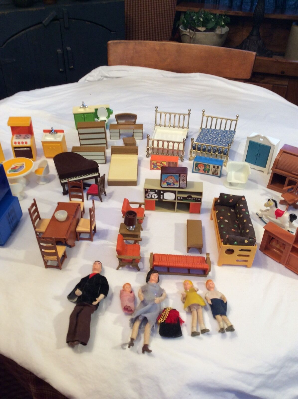 1978 Fisher Price Dollhouse Furniture Made In In In Hong Kong 990dcd