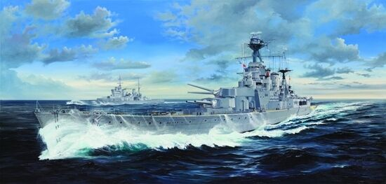 HMS Hood Battle Cruiser 1 200 Plastic Model Kit TRUMPETER
