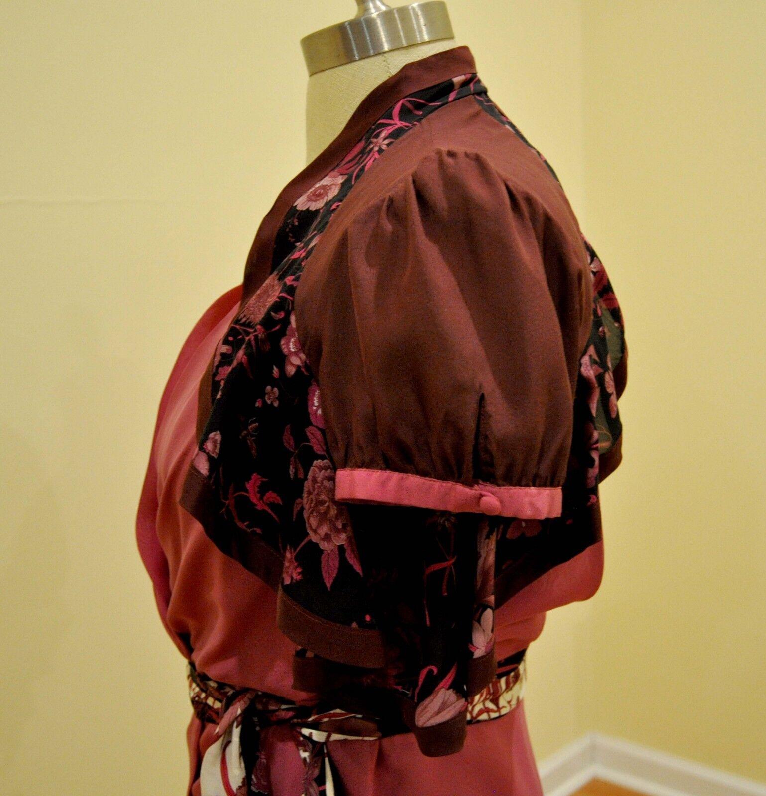 Gucci Silk Print Floral Ruffled Blouse Shirt Top … - image 4