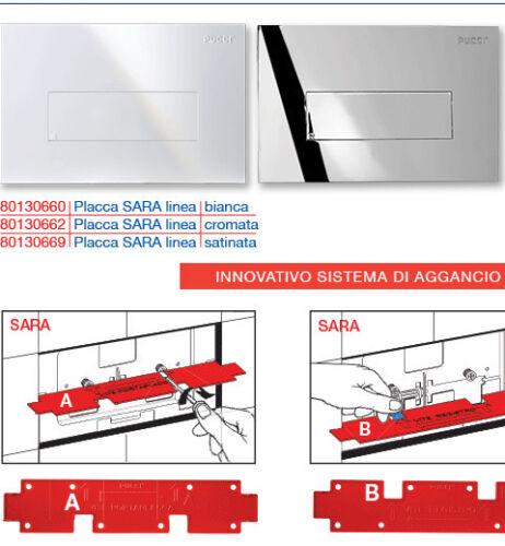 Plaque Pucci Sara White Line and Chrome 4,7mm