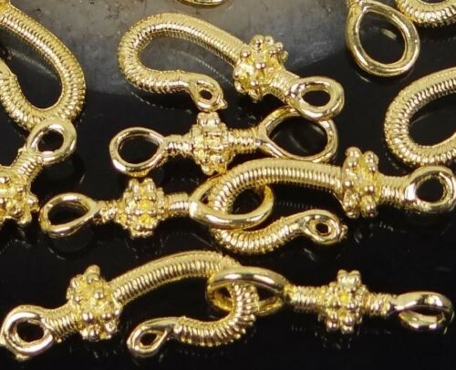 8 pair Gold Plated Pewter Hook Clasps 16 pcs