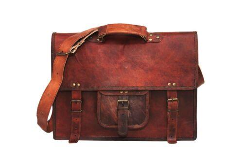 New Men/'s Vintage Leather Messenger Bag Shoulder Laptop Bag Briefcase satchel