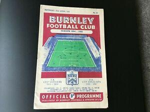 BURNLEY-V-SUNDERLAND-1954-55
