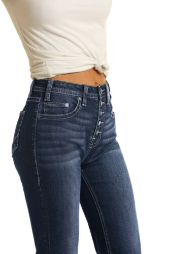 Rock /& Roll Cowgirl High Rise Trouser Extra Stretch Jeans W8H4165