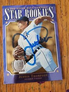 Justin Thompson ~ Detroit Tigers ~ 97 Upper Deck ~ Signed Autographed Card MLB