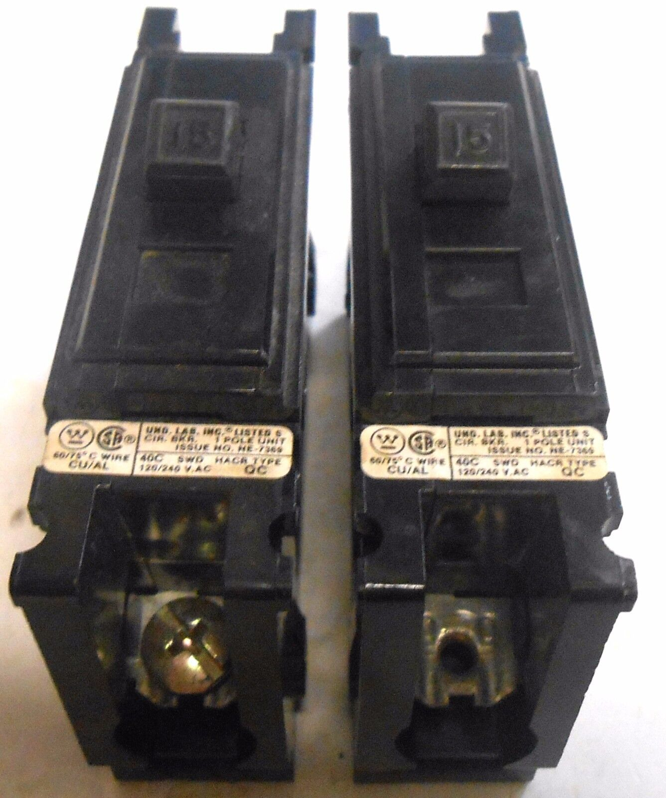 Westinghouse Circuit Breaker Ne 7369 1 Pole Unit 120 240vac 40c Ebay Ge Industrial Thql1120afp2 Arc Fault At