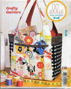 KWIK-SEW-SEWING-PATTERN-118-ELLIE-MAE-CRAFY-CARRIERS-SEWING-KNITTING-BAG-TOTE