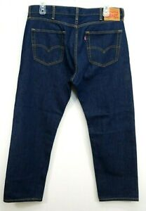 Levis-Mens-505-0216-Dark-Blue-Regular-Fit-Straight-Leg-Denim-Jeans-Size-38-x-30