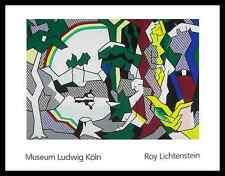Roy Lichtenstein Landscape with Figures and Rainbow Poster Kunstdruck und Rahmen