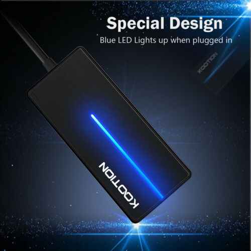 Up to 5Gbps 4 Ports USB 3.0 Hub Splitter Adapter Ultra-thin Data Hub for Laptop