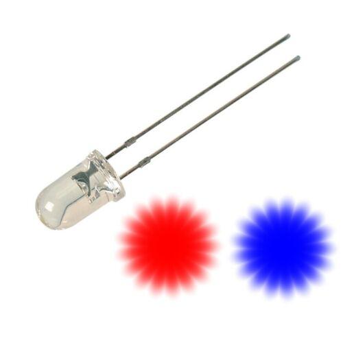 LED 5mm Klar 9-12V fertig verkabelt 10 Farben zur Auswahl Modellbau Hobby Beruf