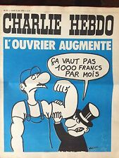 CHARLIE HEBDO n°81 du 05/06/1972 (Wolinski, Cabu, Reiser, Gébé, Willem, ...)
