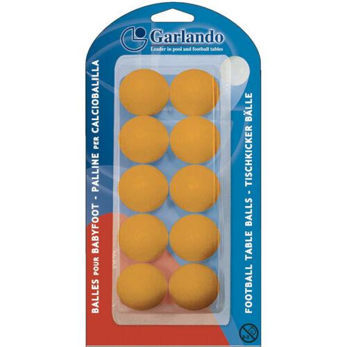 GARLANDO Palline Calciobalilla Standard 33,1mm 10 pezzi colore ARANCIONE