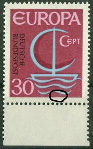 Bund-520-I-sauber-postfrisch-Plattenfehler-PF-CEPT-1966-Michel-50-00-MNH