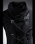 Punk-Mens-Turtleneck-Slim-Fit-Pullover-Personalized-Tee-Lace-UP-Casual-Shirt-Top thumbnail 7