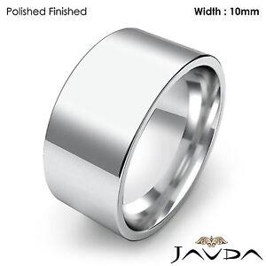 Image Is Loading Comfort Flat Pipe Cut Ring Men Wedding Band